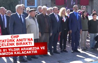 CHP, Atatürk Anıtı'na Çelenk Bıraktı