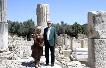 Cumhurbaşkanı Erdoğan'ın ziyaret ettiği antik kente ilgi arttı