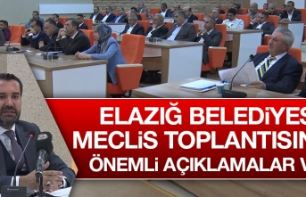 Elazığ Belediye Meclisi, Belediyenin Bütçesini Görüştü