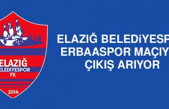 Elazığ Belediyespor; Erbaaspor Maçıyla Çıkış Arıyor