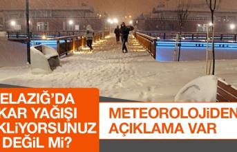 Elazığ'da Kar Yağışı Bekliyorsunuz Değil mi?