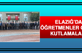 Elazığ'da, 'Öğretmenler Günü' Kutlamaları