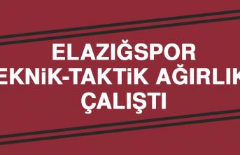 Elazığspor, Teknik-Taktik Ağırlıklı Çalıştı