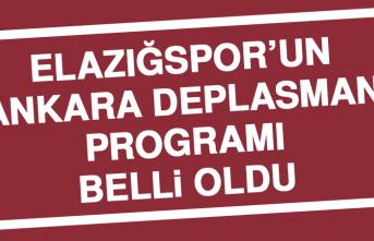 Elazığspor'un Ankara Deplasman Programı Belli Oldu