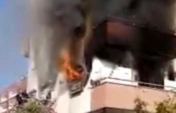 Eşiyle tartışan kadın evini ateşe verdi, yaralı olarak kurtarıldı