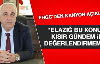 FHGC'DEN KANYON AÇIKLAMASI