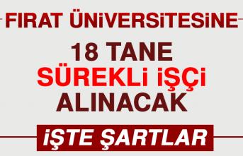 Fırat Üniversitesi'ne 18 İşçi Alımı Yapılacak!