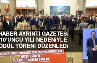 Haber Ayrıntı Gazetesi Ödül Töreni Düzenledi