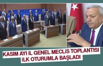 İl Genel Meclisi Kasım Ayı Toplantıları Başladı