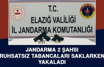 Jandarma 2 Şahsı, Ruhsatsız Tabancaları Saklarken Yakaladı