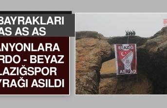 Kanyonlara Elazığspor Bayrağı Asıldı