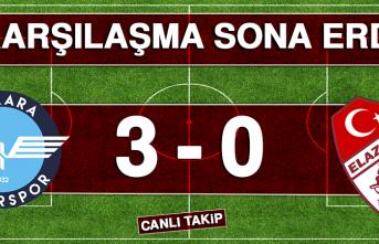 Karşılaşma Sona Erdi! Ankara Demirspor 3 - 0 Birevim Elazığspor