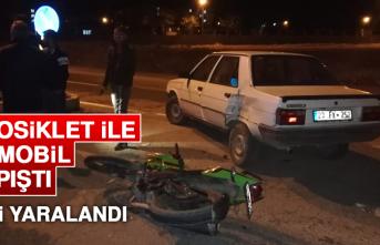 Motosiklet İle Otomobil Çarpıştı, 1 Kişi Yaralandı