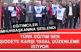 Türk Eğitim Sen, Şiddete Karşı Yasal Düzenleme İstiyor