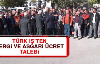 Türk İş'ten Vergi ve Asgari Ücret Talebi
