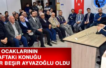 Türk Ocaklarının Bu Haftaki Konuğu Yazar Beşir Ayvazoğlu Oldu