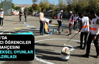 Yabancı Öğrenciler, Okul Bahçesini Geleneksel Oyunlar İçin Hazırladı