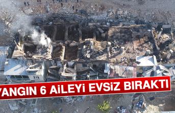 Yangın 6 Aileyi, Evsiz Bıraktı