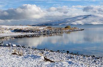 Çıldır Gölü Kışın da Büyülüyor