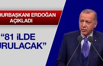 Cumhurbaşkanı Erdoğan 81 İlde Kurulacağını Açıkladı