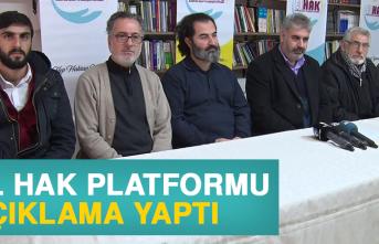 El Hak Platformu'ndan Açıklama