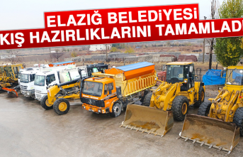 Elazığ Belediyesi Kış Hazırlıklarını Tamamladı