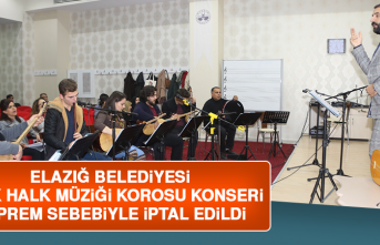 Türk Halk Müziği Korosu Konseri Deprem Sebebiyle İptal Edildi