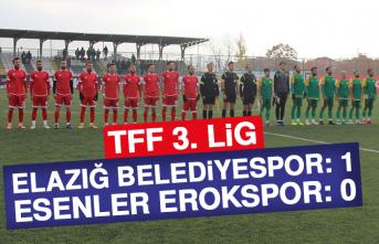 Elazığ Belediyespor 1 – 0 Esenler Erokspor