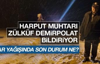 Elazığ'da Kar Yağışında Son Durum Ne?