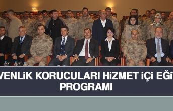 """Elazığ'da """"Güvenlik Korucuları Hizmet İçi Eğitim"""" Programı"""