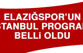 Elazığspor'un İstanbul Programı Belli Oldu