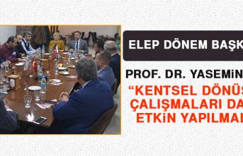 ELEP Dönem Başkanı Prof. Dr. Açık Kentsel Dönüşümle İlgili Açıklama Yaptı