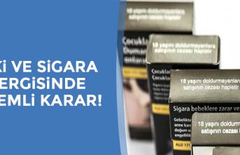 İçki ve sigara vergisinde önemli karar!