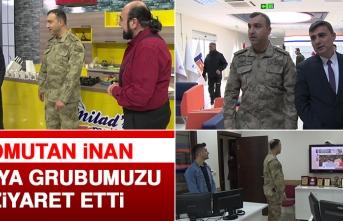 Jandarma Alay Komutanı İnan Medya Grubumuzu Ziyaret Etti