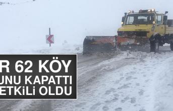 Kar 62 Köy Yolunu Kapattı, Tipi Etkili Oldu