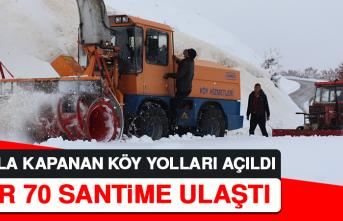 Karla Kapanan Köy Yolları Açıldı