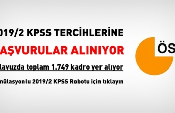 KPSS 2019/2 Tercihleri Alınmaya Başlandı