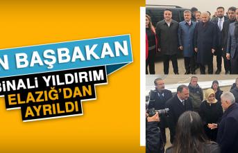 Son Başbakan Binali Yıldırım Elazığ'dan Ayrıldı