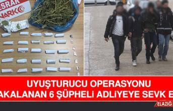 Uyuşturucu Operasyonu: 6 Şüpheli Adliyeye Sevk Edildi