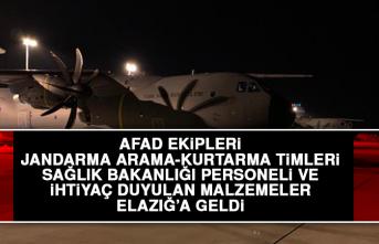 9'uncu Nakliye Uçağı Elazığ'a İntikal Etti