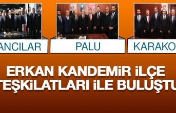 Ak Parti Teşkilatlardan Sorumlu Başkan Yardımcısı Erkan Kandemir, Karakoçan, Kovancılar Ve Palu Teşkilatıyla Buluştu