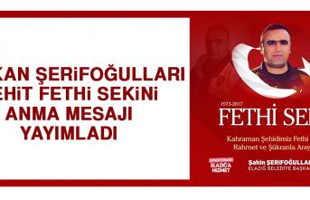 Başkan Şerifoğulları Şehit Fethi Sekin Anma Mesajı Yayımladı