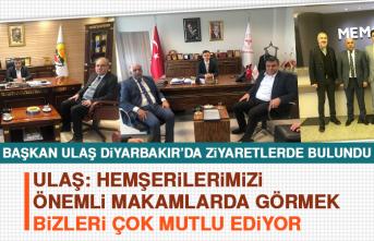 Başkan Ulaş Diyarbakır'da Ziyaretlerde Bulundu