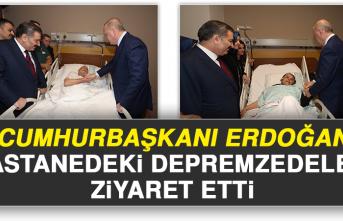 Cumhurbaşkanı Erdoğan Hastanedeki Depremzedeleri Ziyaret Etti