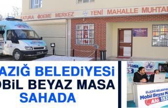 Elazığ Belediyesi Mobil Beyaz Masa Sahada