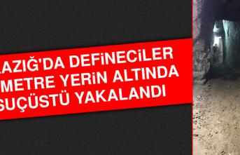 Elazığ'da Defineciler, 35 Metre Yerin Altında Suçüstü Yakalandı