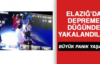 Elazığ'da Depreme Düğün Salonunda Yakalandılar