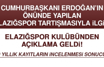 Elazığspor Kulübü Başkanı Öztürk, Yardım Polemikleriyle İlgili Açıklama Yaptı
