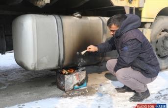 Erzurum ve Ağrı'da dondurucu soğuklar etkisini sürdürüyor