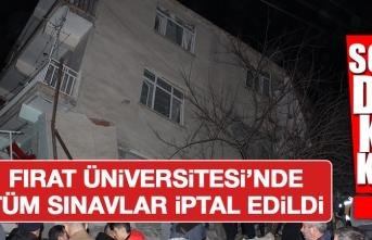 Fırat Üniversitesi'ndeki Tüm Sınavlar İptal Edildi